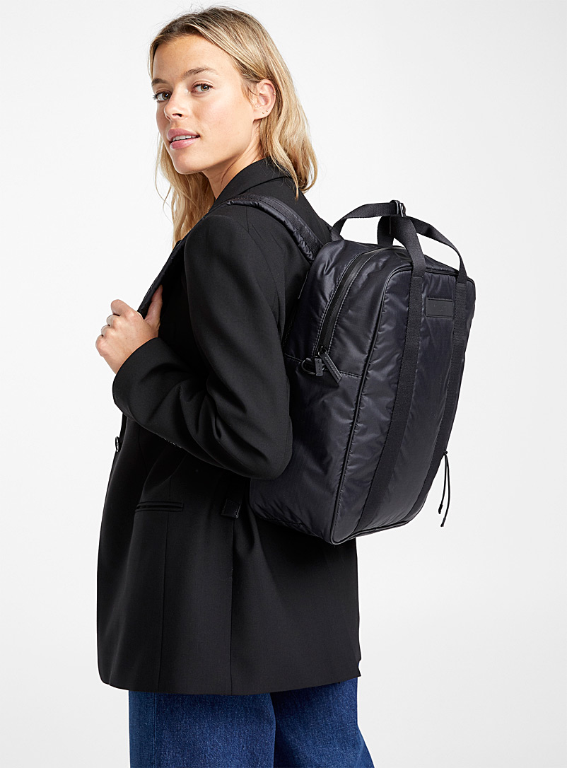 WANT Les Essentiels Black Dorado convertible backpack for women