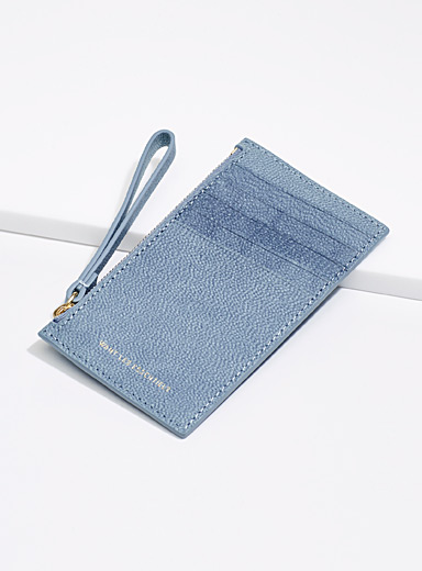 WANT Les Essentiels Teal Adana card holder for women