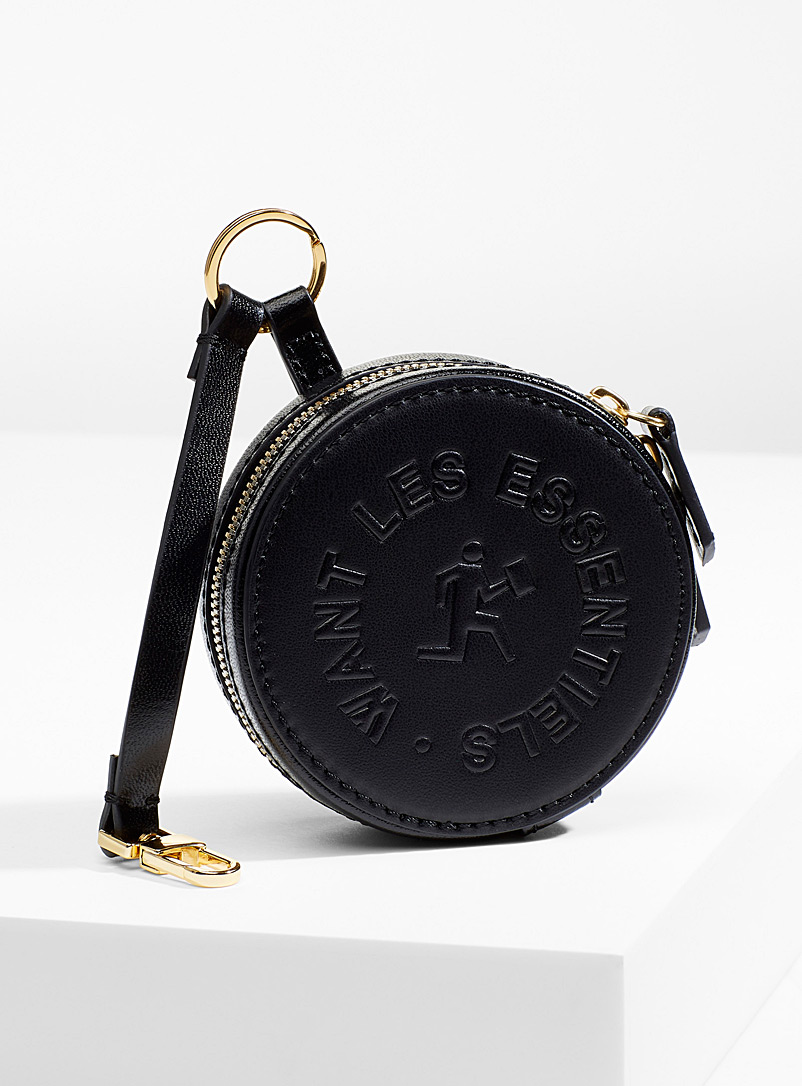 WANT Les Essentiels Black Luka round wallet for women