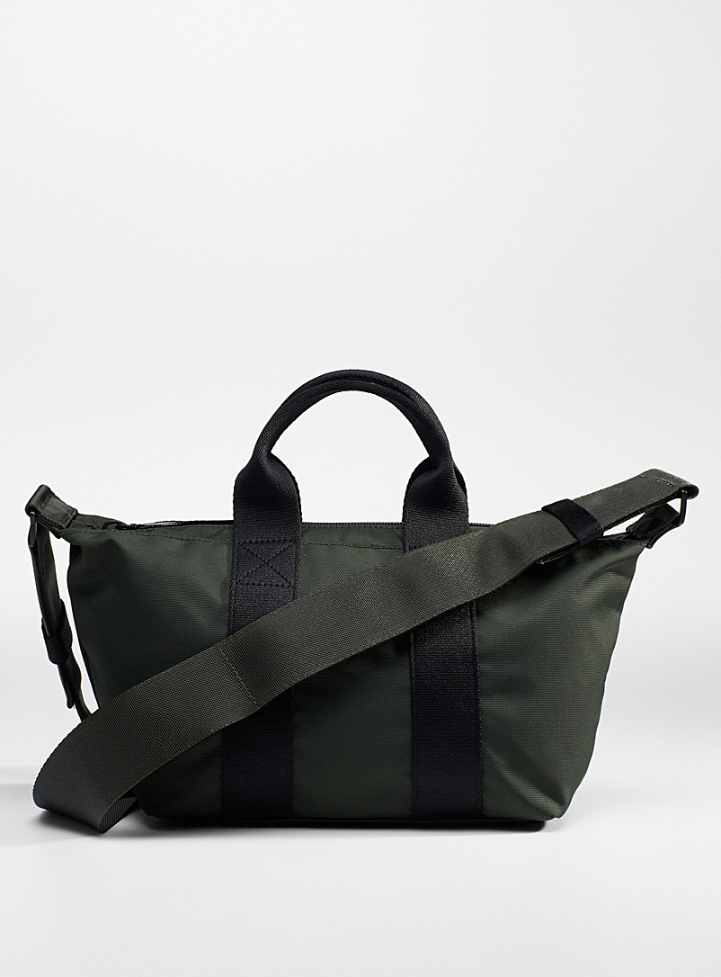WANT Les Essentiels Mossy Green Fuller recycled nylon shoulder tote for women