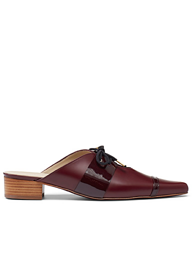 WANT Les Essentiels Fawn Nadi burgundy mules for women