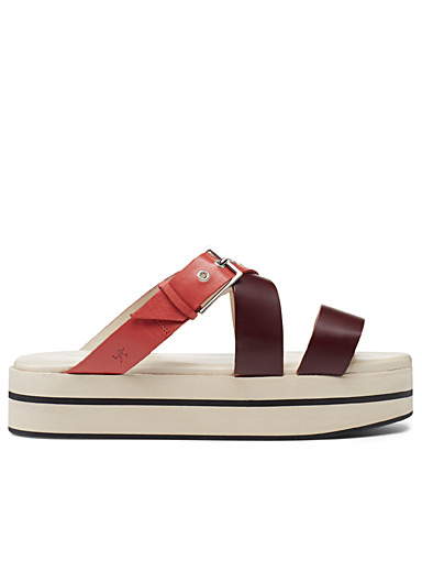 WANT Les Essentiels Orange Ataturk platform sandals for women
