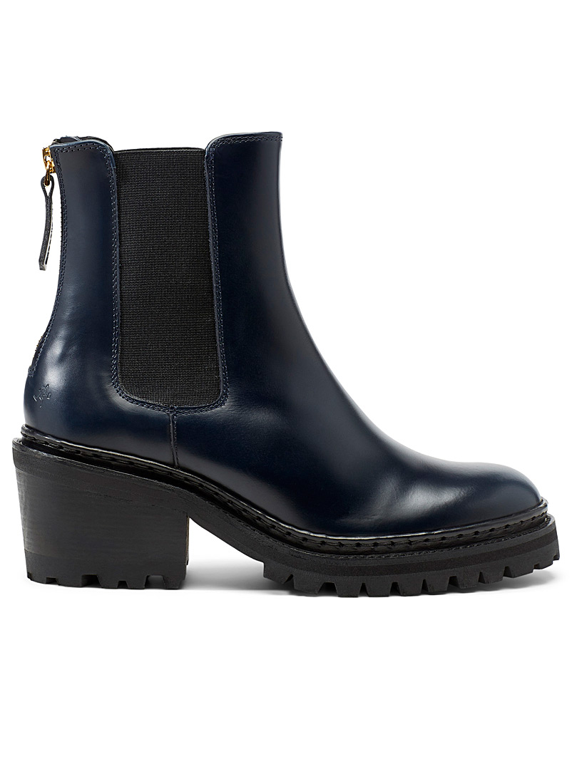 WANT Les Essentiels Marine Blue Chelsea Valdez boots for women