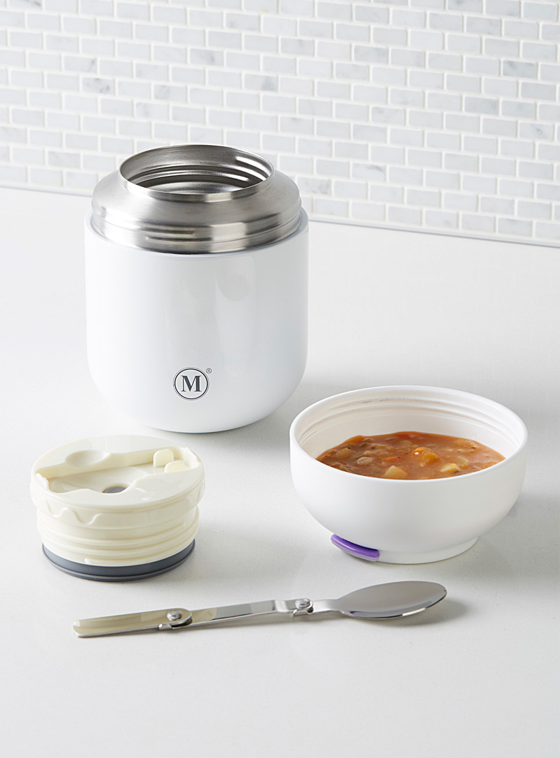 Minimal White Large lunch on the run insulated jar