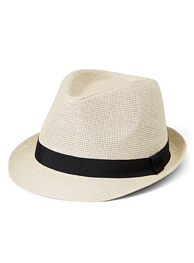 Raised half-brim fedora