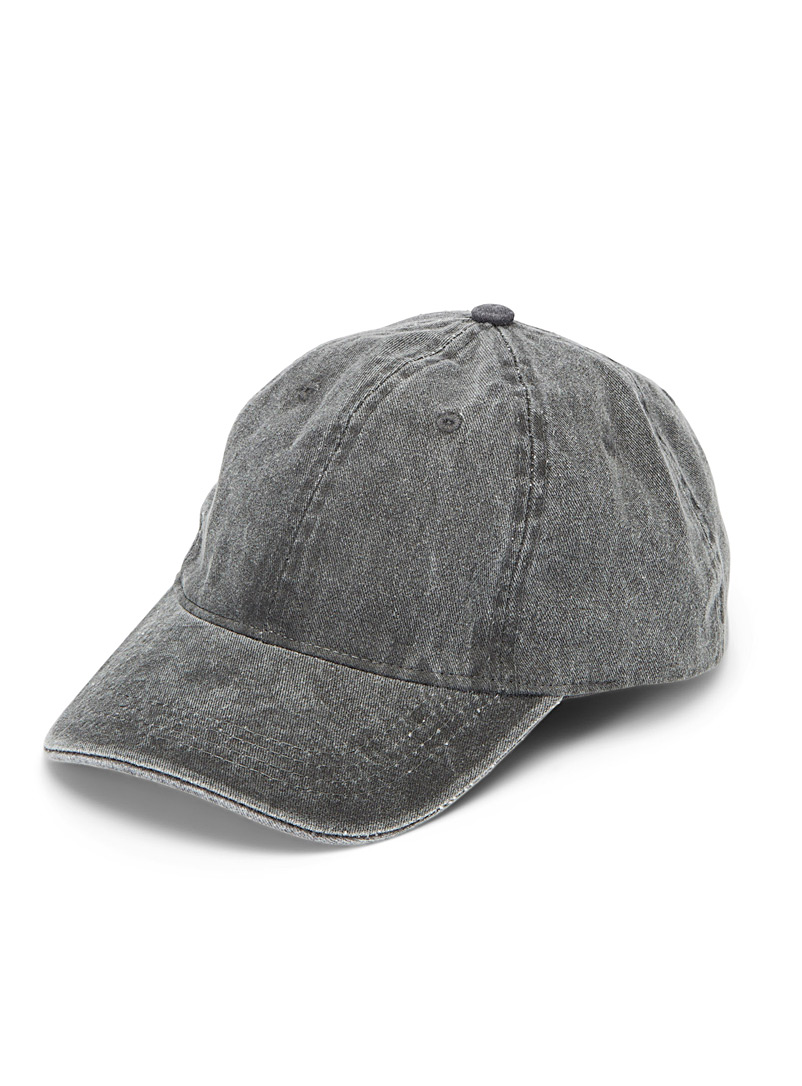 Faded denim essential cap