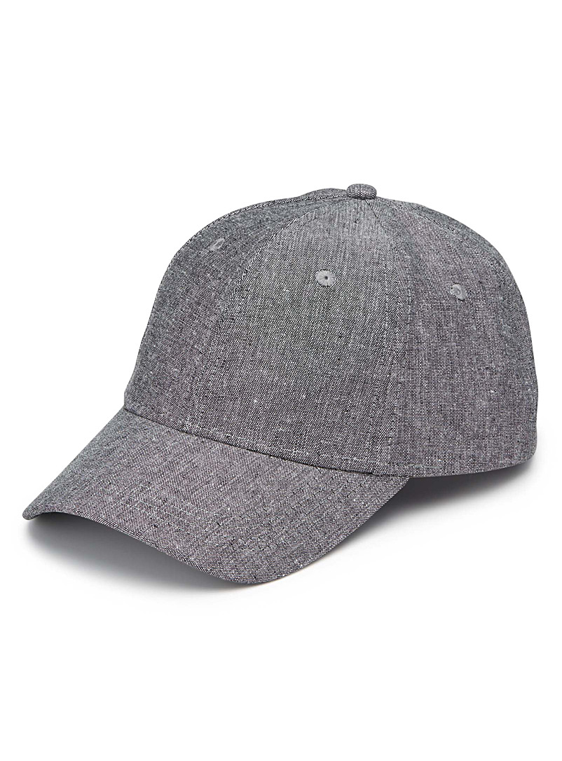Linen-accent baseball cap - Caps - Oxford