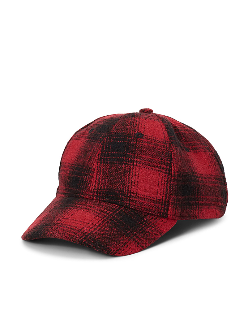 Le 31 Patterned Red Felt pattern cap for men