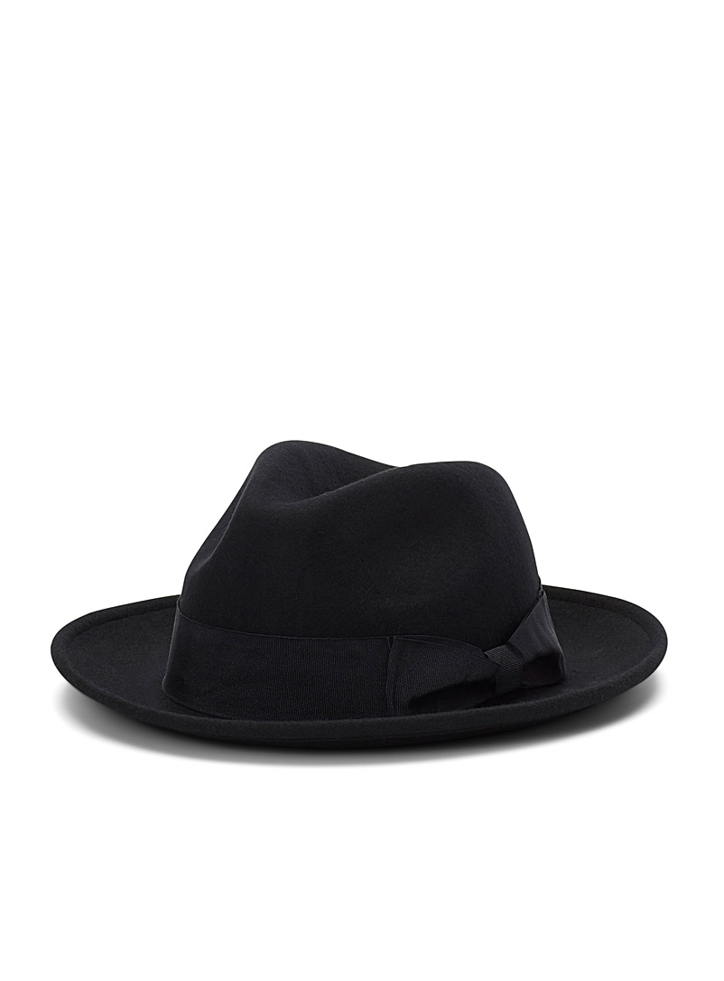 Felt fedora - Hats - Black