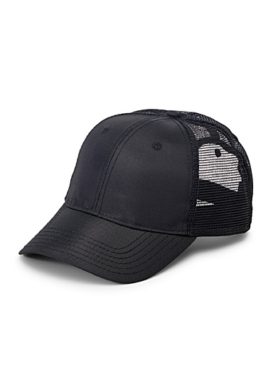 Le 31 Black Monochrome trucker cap for men
