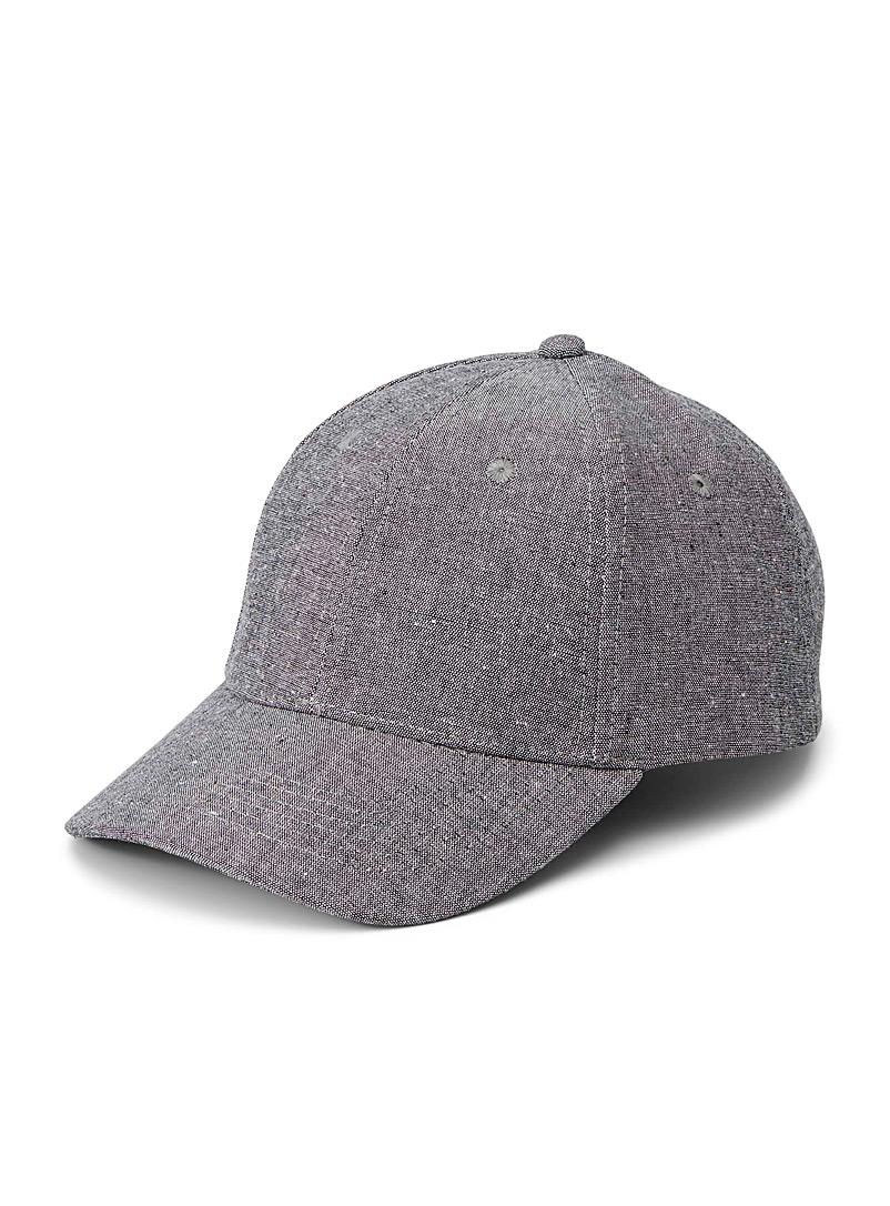 Le 31 Charcoal Chambray cap for men