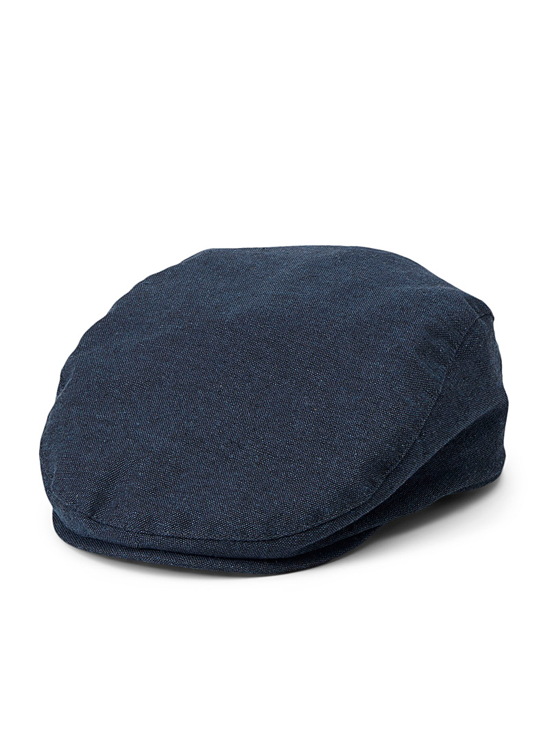 Le 31 Marine Blue Cotton and linen driver cap for men