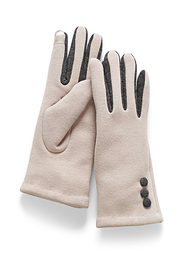 Three-button tactile gloves