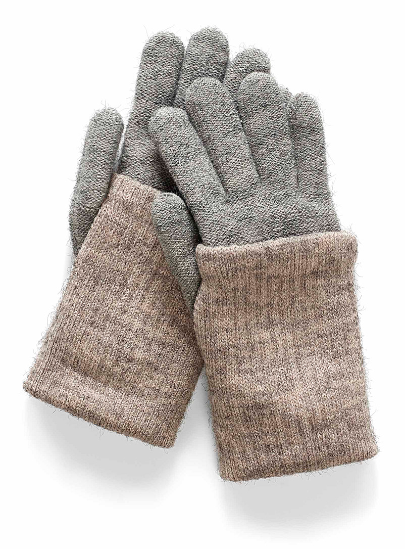 Wrist warmer gloves - Gloves - Silver
