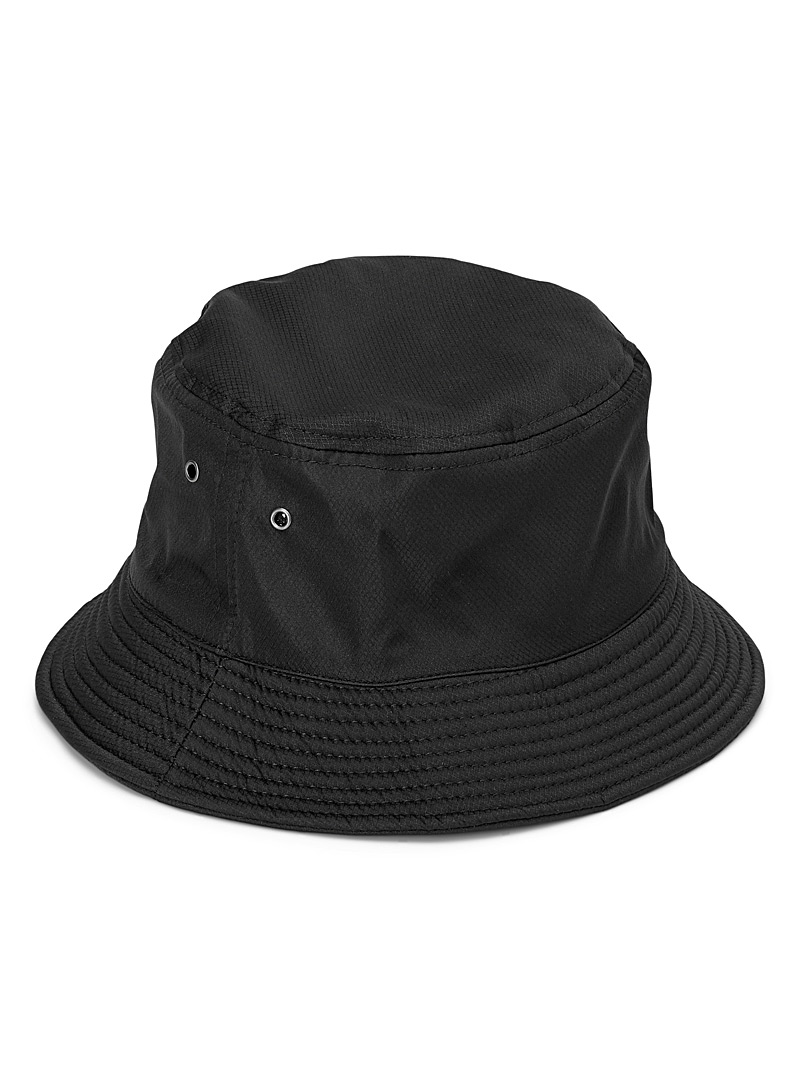 Le 31 Black Ripstop bucket hat for men