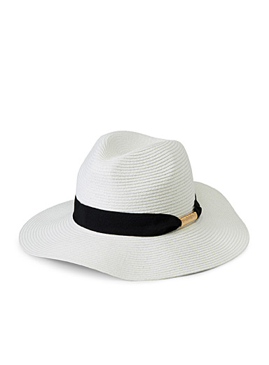 Gold-accent Panama hat