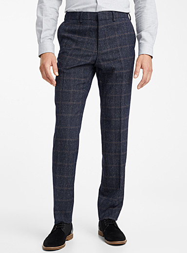Heathered windowpane check pant  Berlin fit-Regular