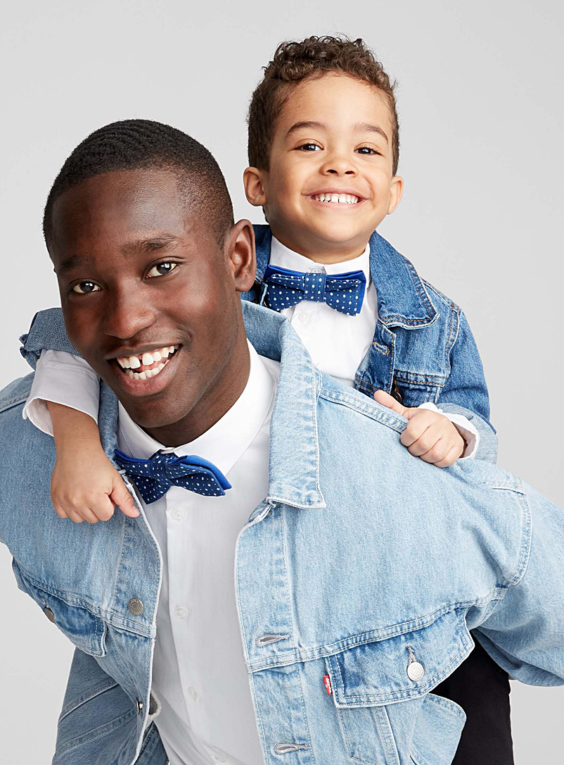 Father and son starry night bow ties - Coo-Mon - Blue