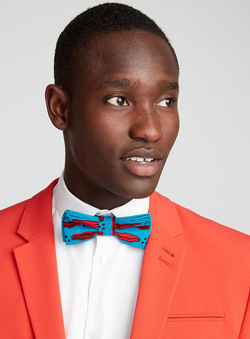 Kiss pattern bow tie - Coo-Mon - Blue