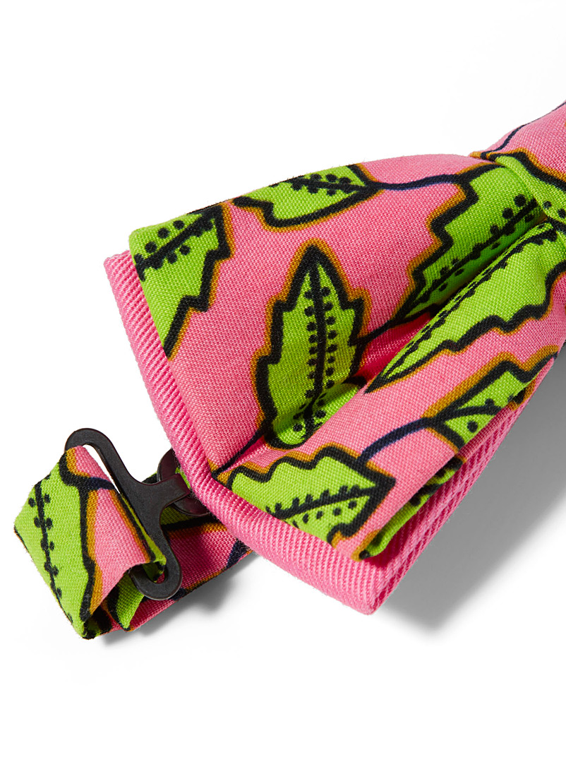 Bright foliage bow tie - Coo-Mon - Pink