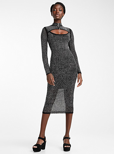 Infinite crystal midi dress