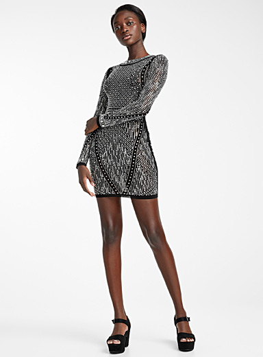 Infinite crystal fitted dress