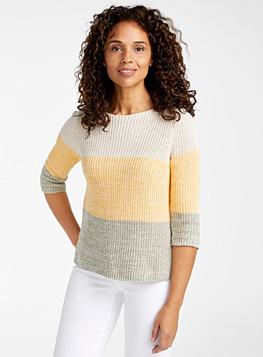 Bright block sweater