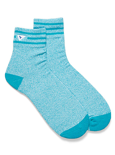 Blue shade ankle socks