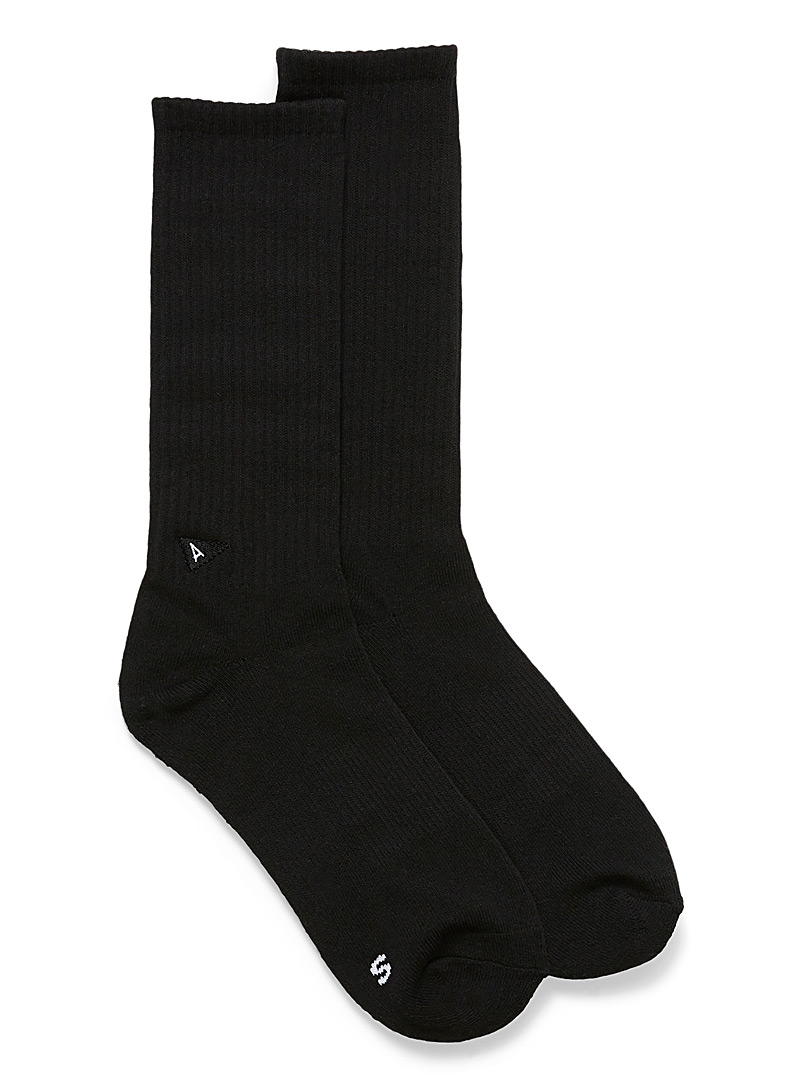 Arvin goods Black Black cushioned ankle socks for women