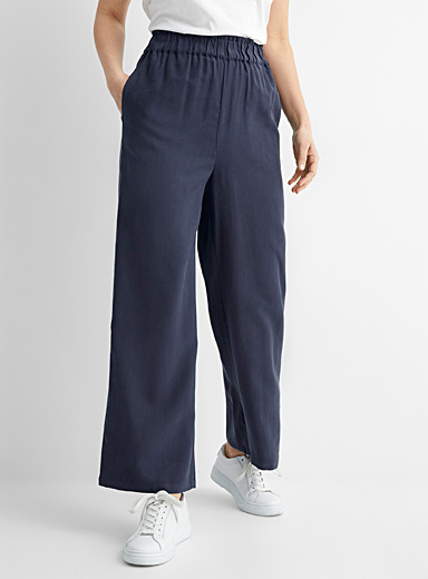 Ermine gathered waist wide pant