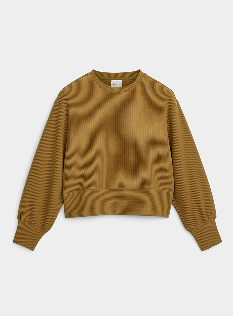 Varley: Le sweat ample côtelé May Brook Bronze ambre pour femme