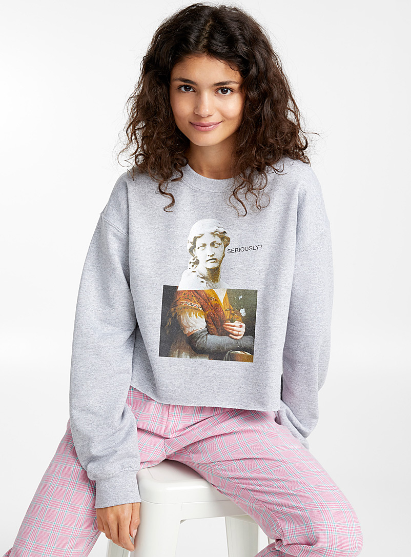 Le sweat oeuvre d'art - Courts - Gris