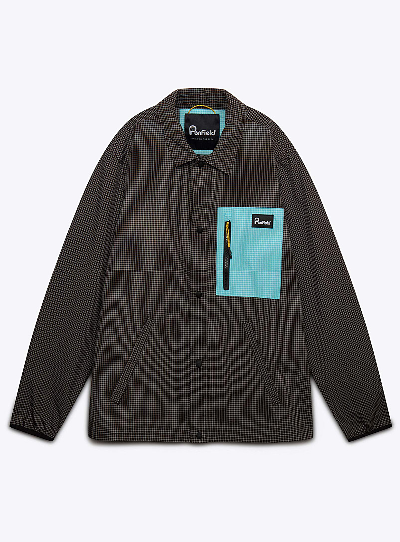 Penfield Black Laval check overshirt for men