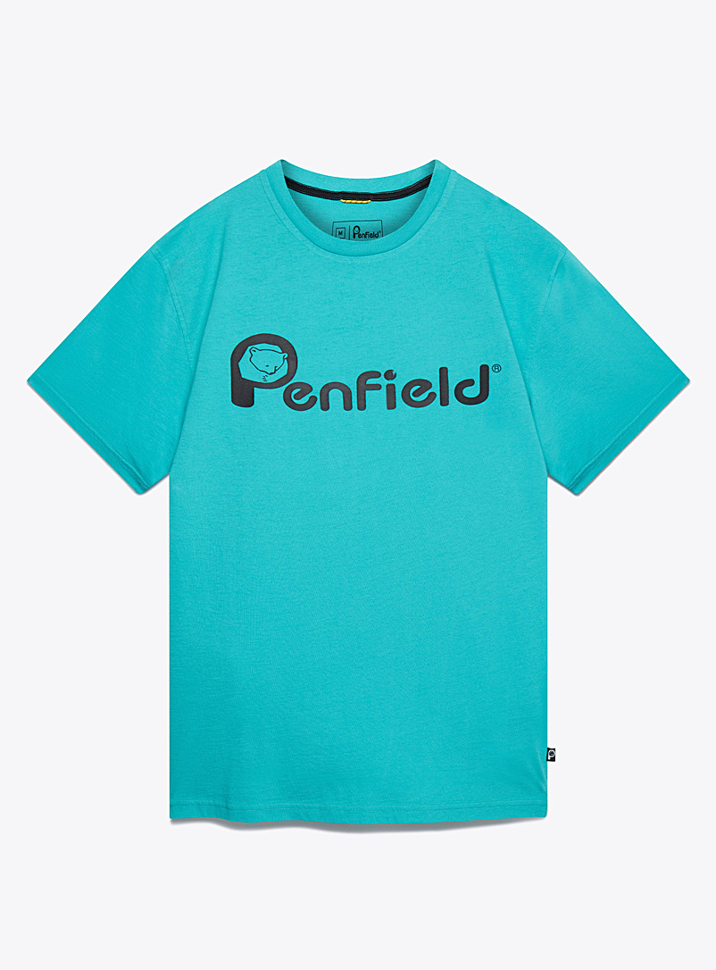 Penfield Teal Contrast signature T-shirt for men