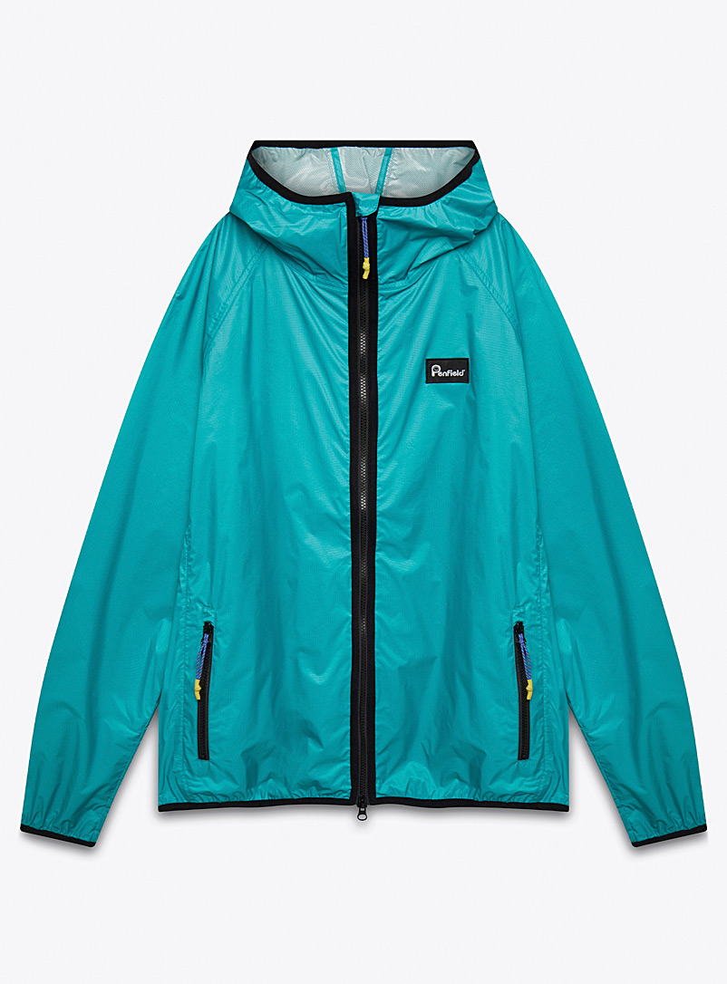 Penfield Teal Bonfield windbreaker for men