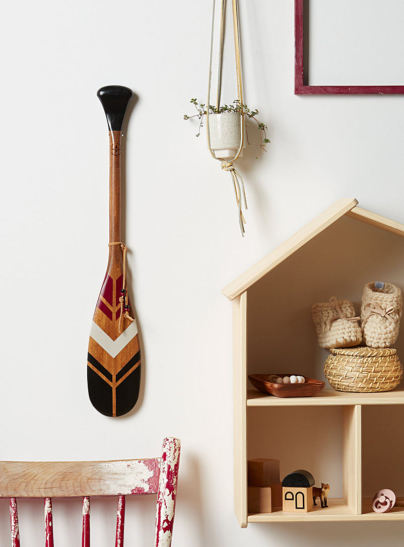 The Dawn mini decorative paddle Offered with or without wall mount