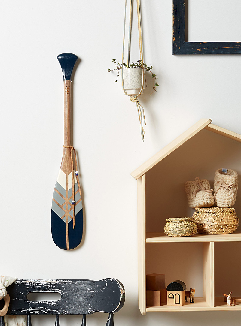 The Warrior mini decorative paddle Offered with or without wall mount