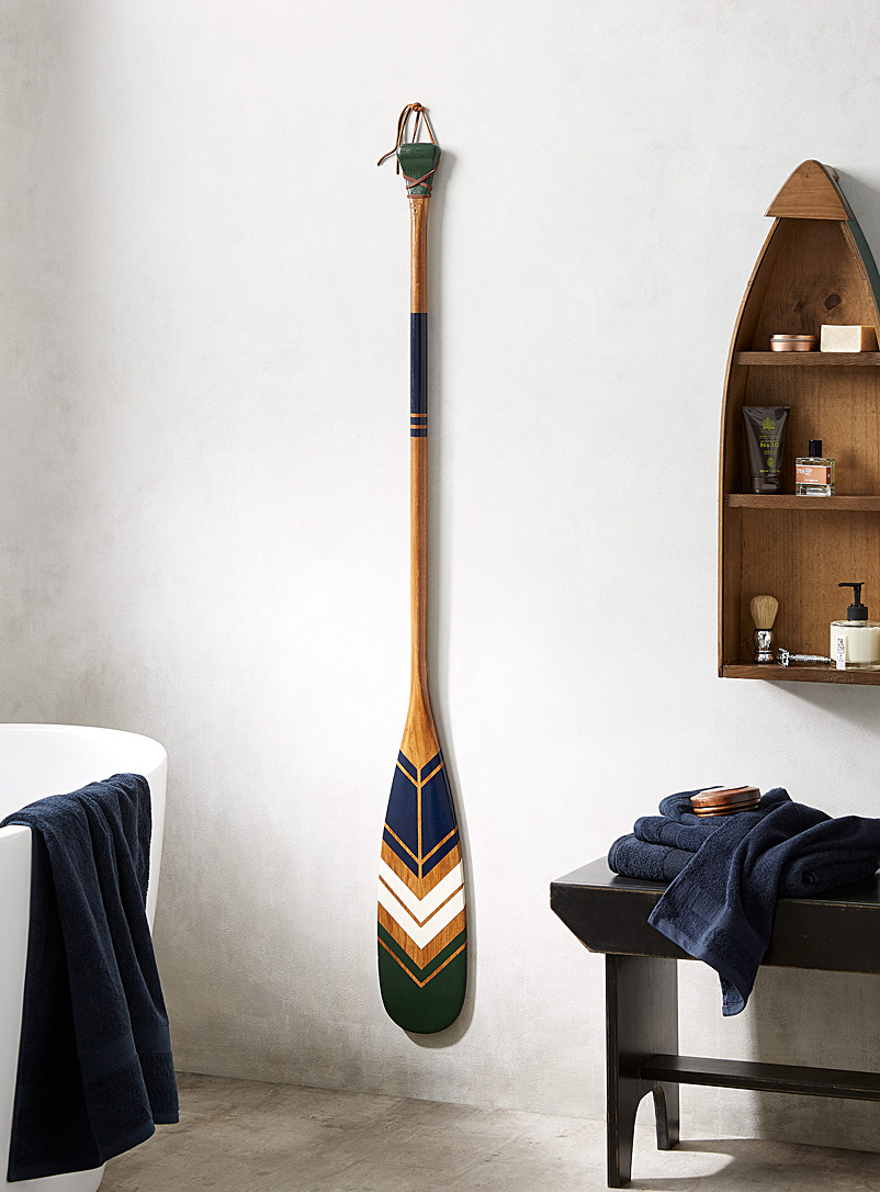 Onquata Green The Earth decorative paddle Offered with or without wall mount