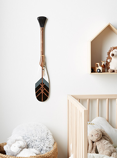 The Night mini decorative paddle Offered with or without wall mount
