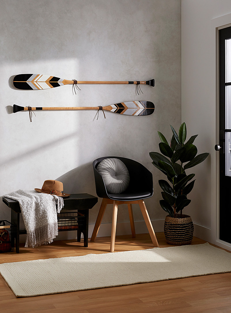 Les Lunaires decorative paddle set Offered with or without wall mounts