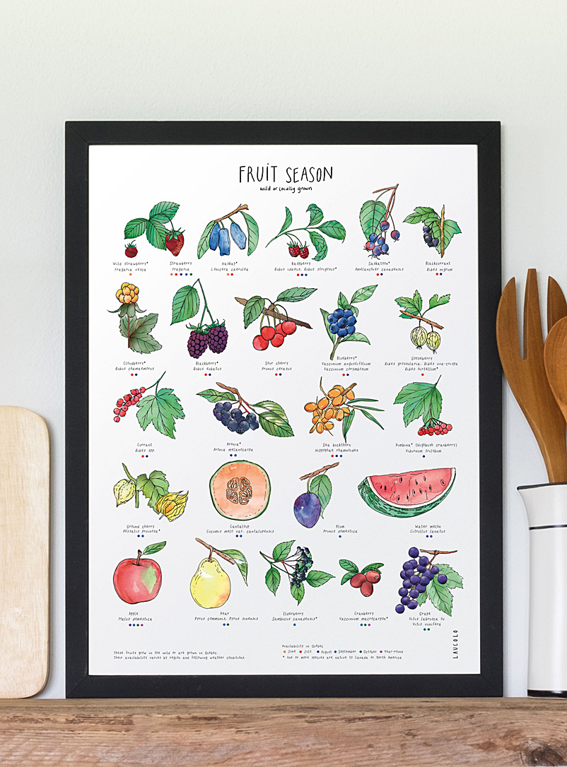 Fruit season art print