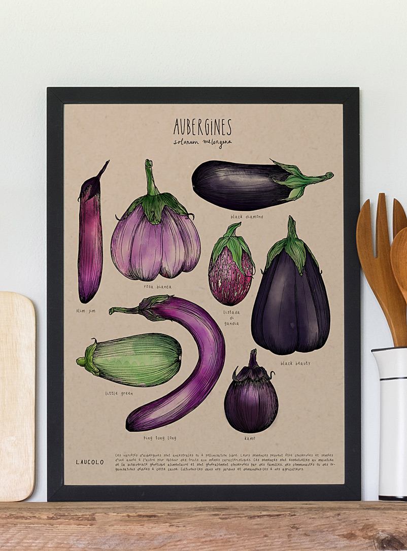 Laucolo Kraft - English Eggplants art print