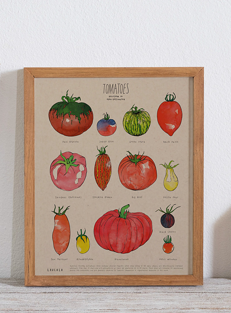 Heirloom tomatoes poster - Laucolo - Kraft - English