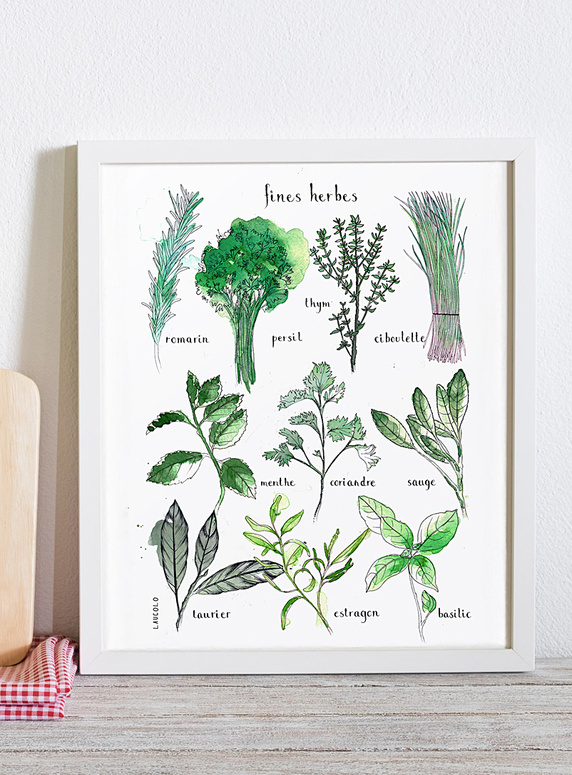Herbs poster - Laucolo - White