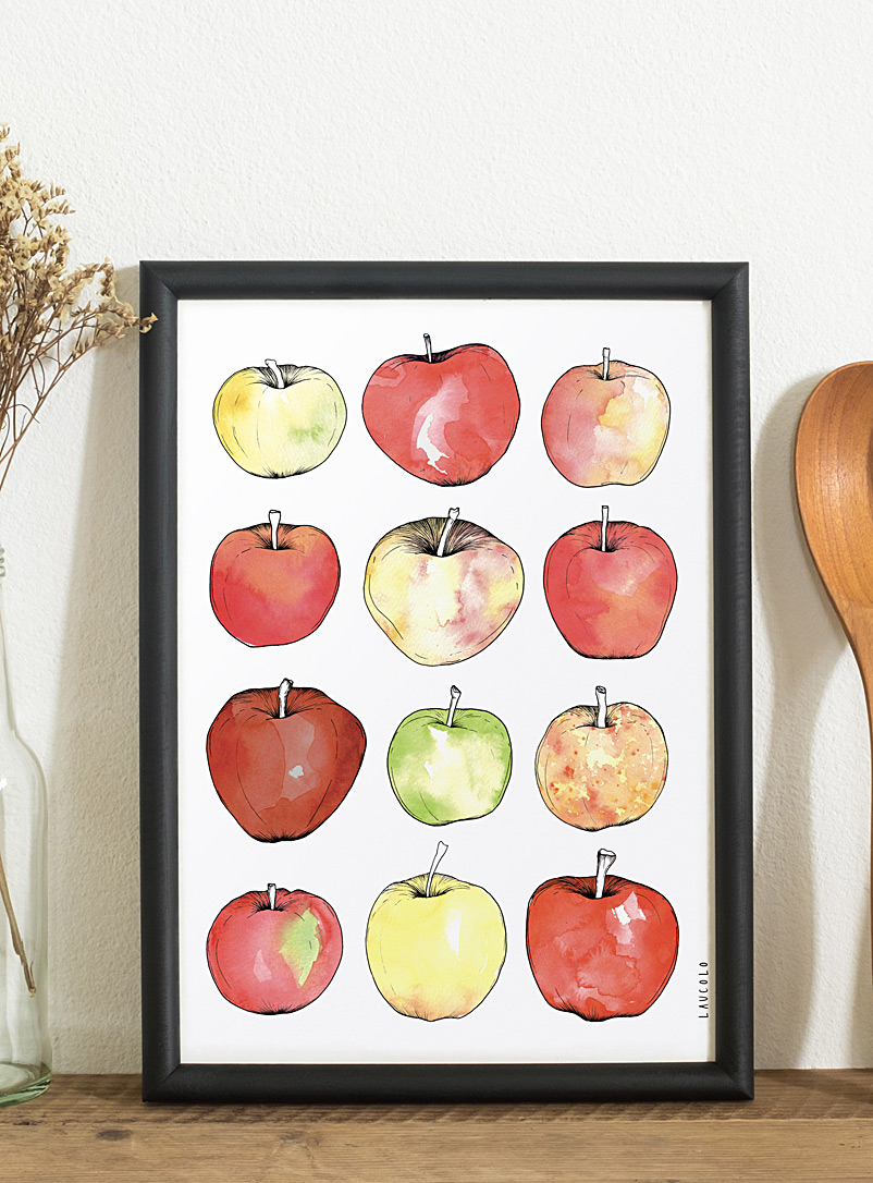 Apples poster - Laucolo - White