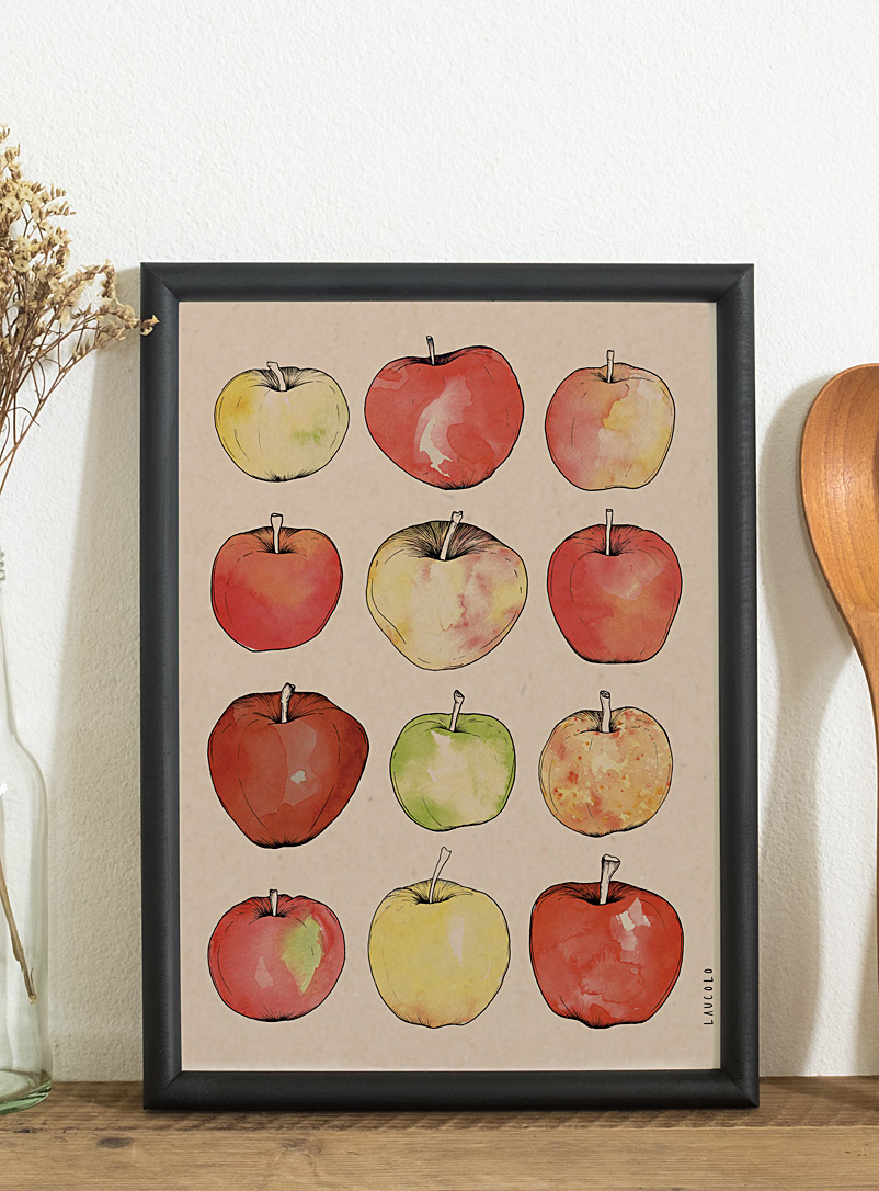 Apples poster - Laucolo - Cream Beige