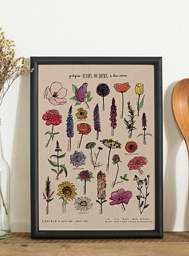 Quebec Flowers poster