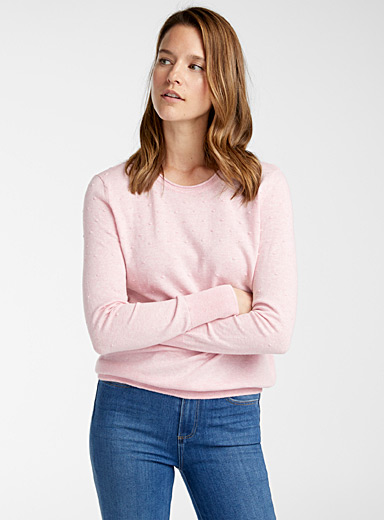 Textured dot sweater