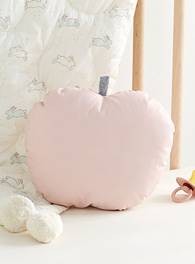 Small pink apple cushion