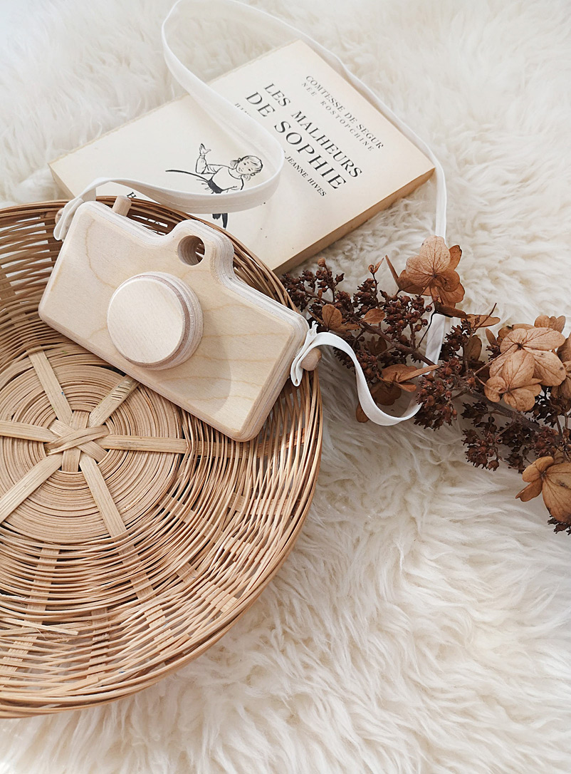 The Butter Flying Brown Wooden camera
